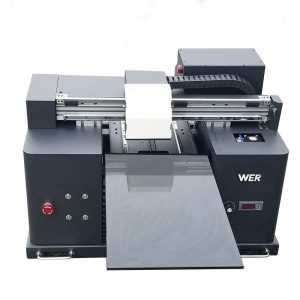2018 UV led flatbed printer a4 dtg t-shirt logo drukmachine te koop WER-E1080T