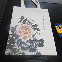 Doekentas afdrukvoorbeeld met A2 t-shirt printer WER-D4880T