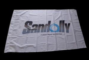 Vlaggendoek banner gedrukt door Eco-solventprinter WER-ES160 van 1,6 m (5 voet)